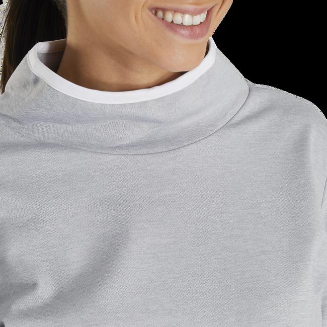 Pullover Brushed Back Pique Cowl Women