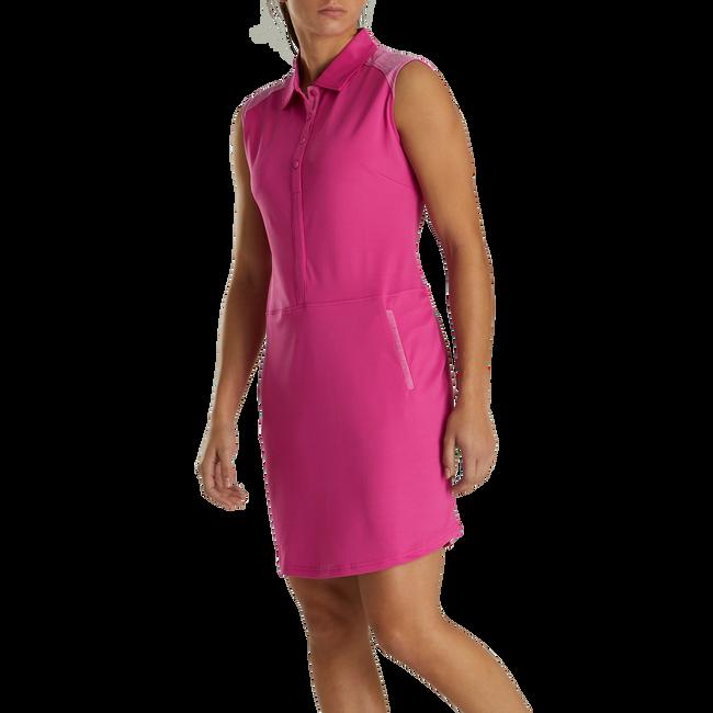Sleeveless Pique Dress Women-Previous Season Style