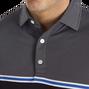 Jacquard Top Colour Block Self Collar