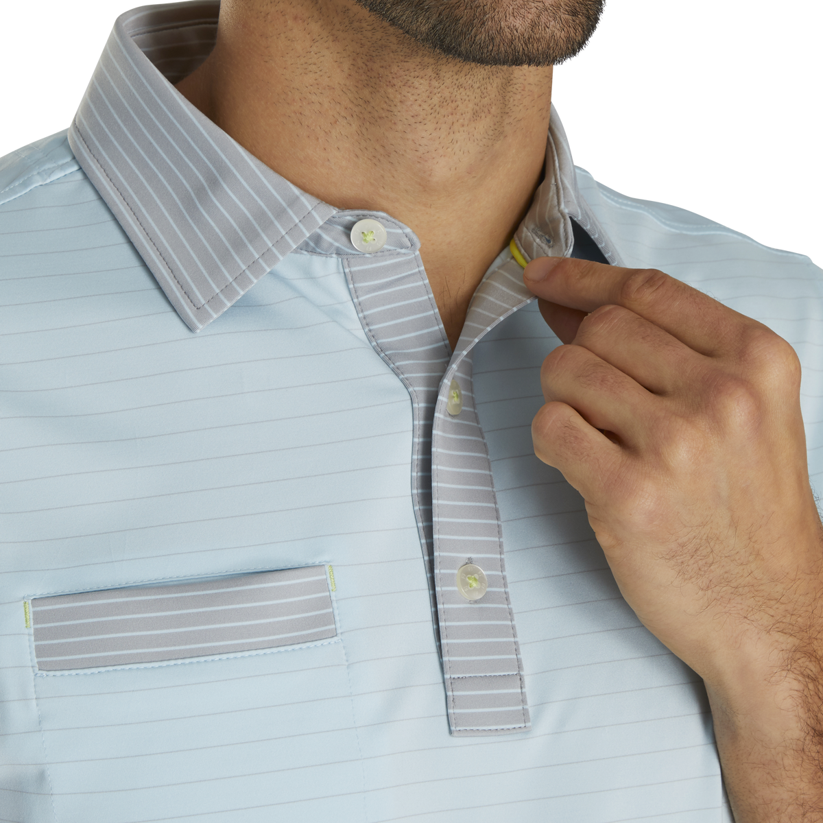 Lisle Mixed Pinstripe Self Collar