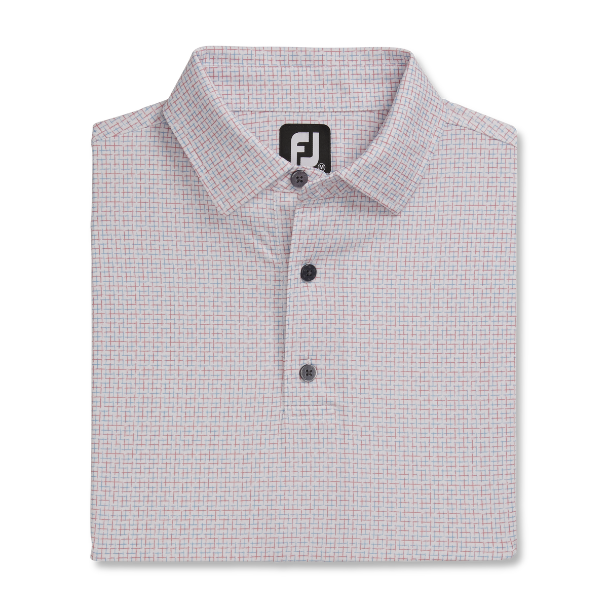 Lisle Open Weave Print Self Collar