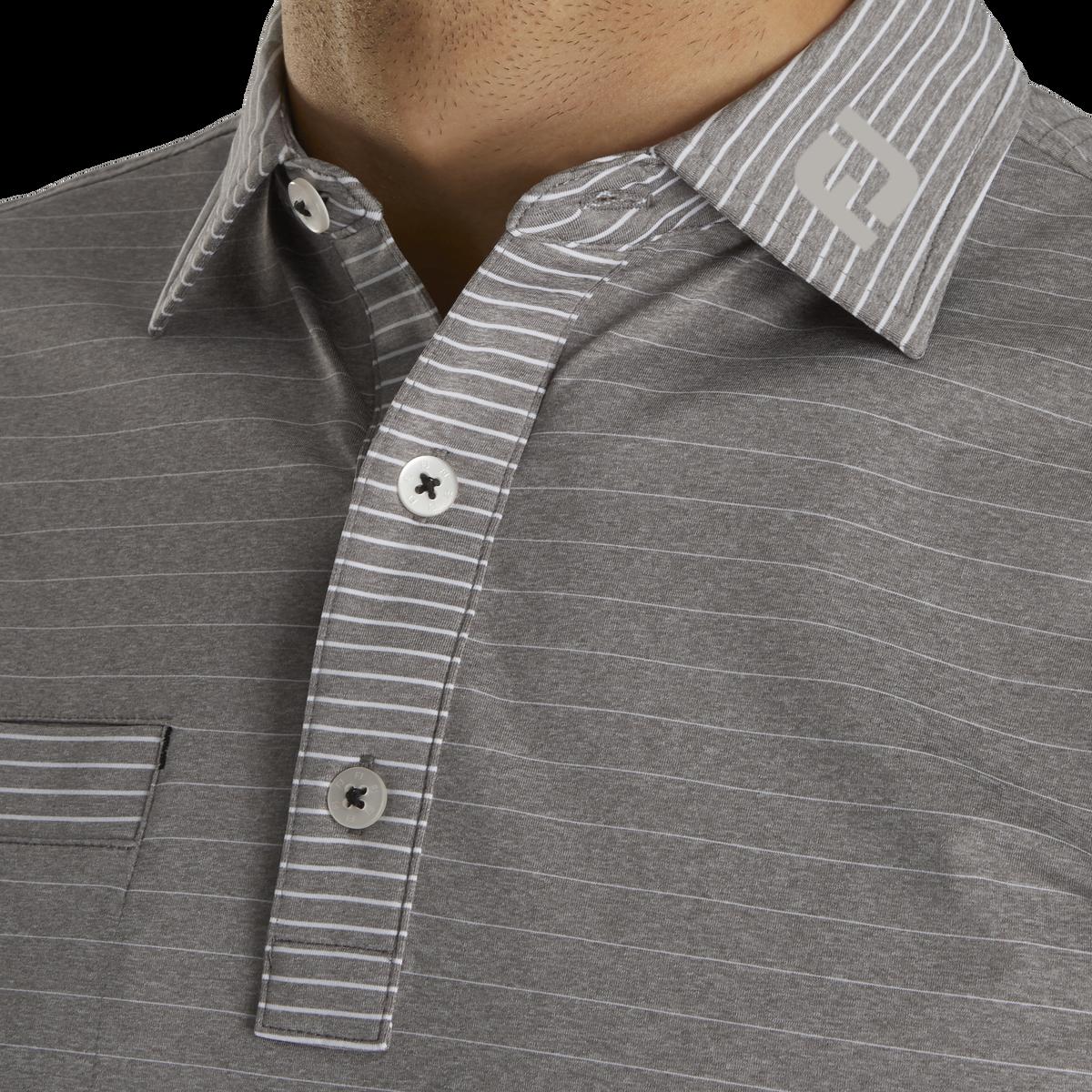 Lisle Mixed Pinstripe Self Collar