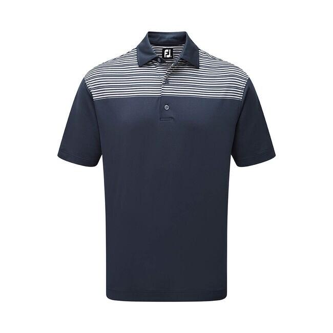Stretch Pique Raglan Sleeve Chest Stripe-Previous Season Style