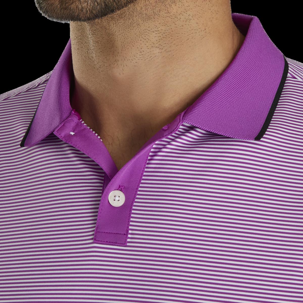 Lisle Ministripe Knit Collar