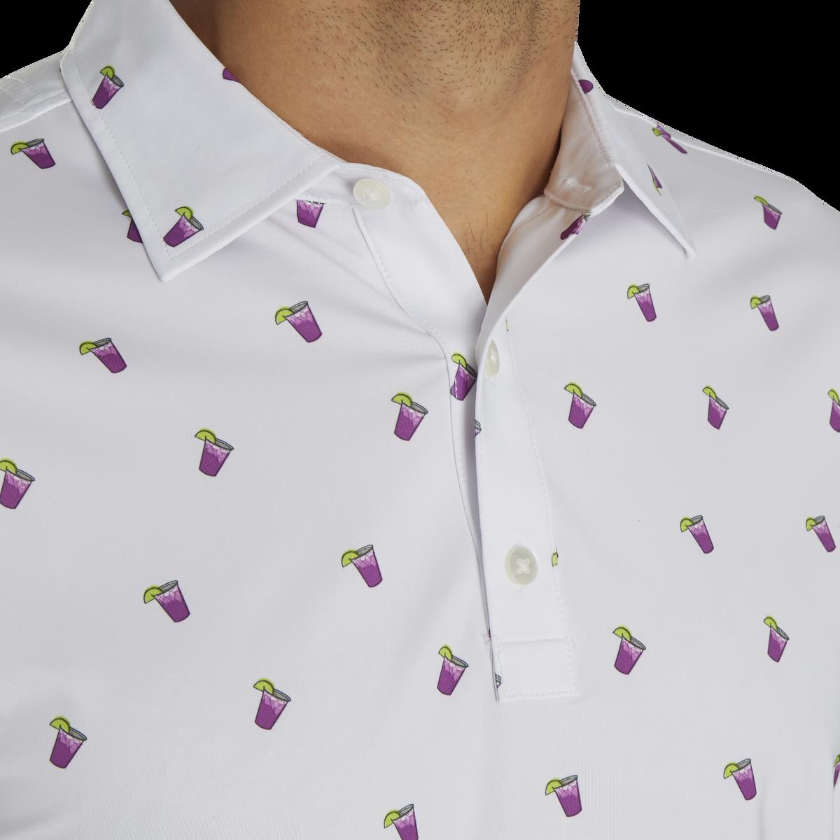 Lisle Cocktail Print Self Collar