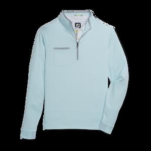 Fleece Quarter-Zip Contrast Trim-Previous Season Style
