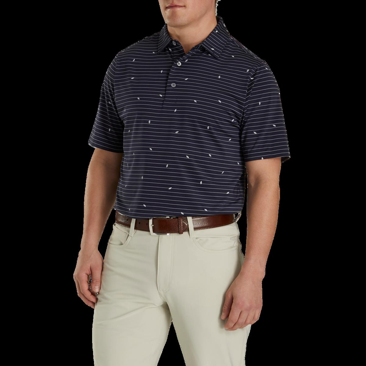 Athletic Fit Lisle Stripe Self Collar