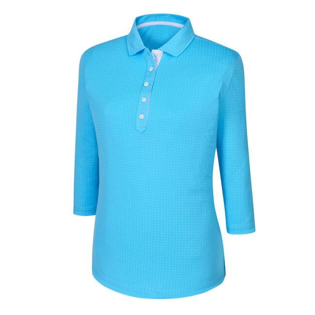 3/4 Sleeve Dot Pattern Shirt Women-Previous Season Style
