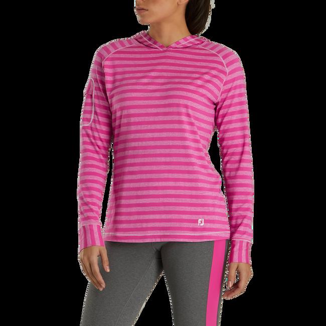 Jersey Melange Pullover Hoodie Women-Previous Season Style
