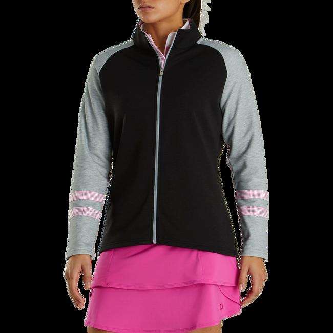 Full-Zip Raglan Color Block Mid-Layer Women-Previous Season Style
