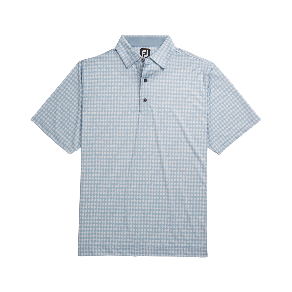 Lisle Gingham Fray Print Self Collar