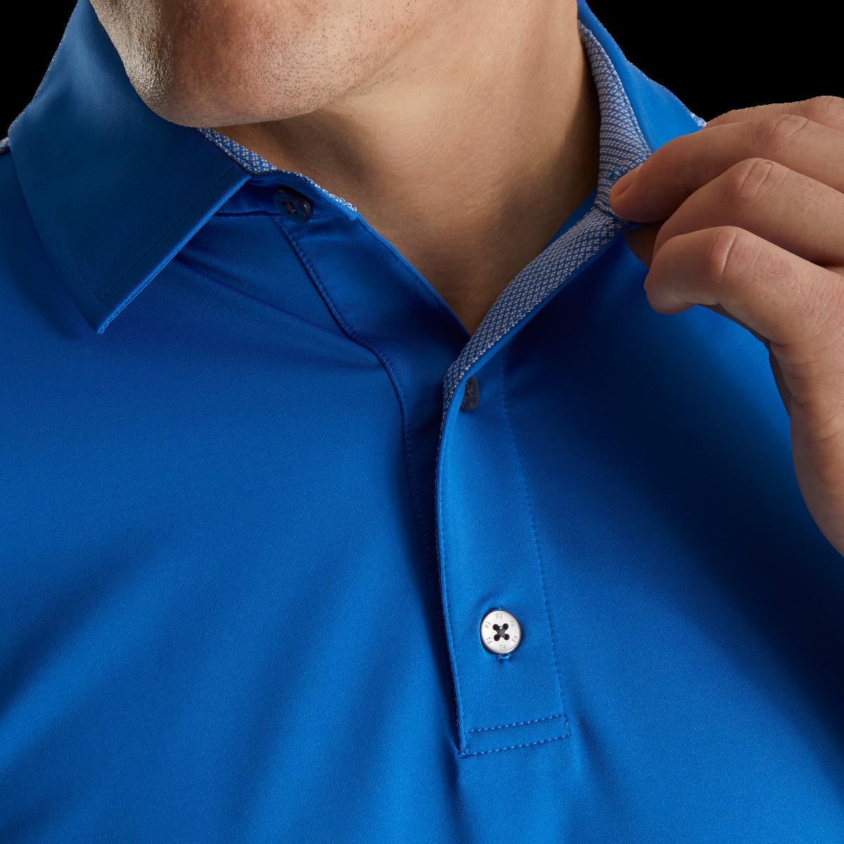 Lisle Solid 4 Dot Jacquard Yoke Self Collar